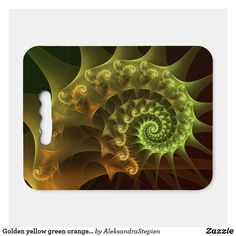 seat cushion created by AleksandraStepien. Stadium Seat Cushions, Stadium Seats, Golden Yellow, Green And Orange, Logo For School, Geometric Flower, Ice Fishing, Fractals, Light In The Dark
