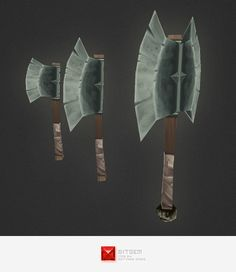 Low Poly Axe - 3DOcean Item for Sale