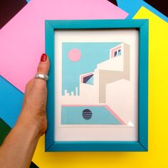 Vaporwave Art, Abstract Paper, Collage Design, Collage Frames, Tropical Art, Geometric Shapes, Paper Cutting, Bristol Uk, The Originals