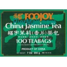 Foojoy Chinese Jasmine Green Tea  100 Tea Bags Pack of 1 -- Want additional info? Click on the image.