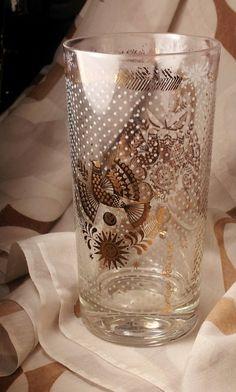 vintage georges briard glass | Retro Mid Century Modern Georges Briard Glass - Signed, Gold ...
