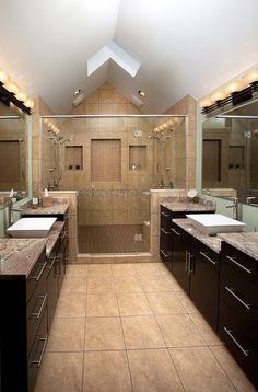 New shower with seats , double shower heads, soap cubbies and semi frameless shower door Dream Bathrooms, Beautiful Bathrooms, Modern Bathroom, Master Bathrooms, Bathroom Layout, Bathroom Ideas, Restroom Ideas, Bathroom Goals, Bathroom Makeovers