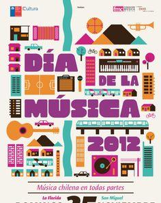 Dia De La Musica created using Patagon ☞ https://www.hypefortype.com/patagon.html #FontsInuse
