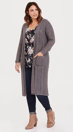 Plus Size Duster Cardigan - Plus Size Fashion for Women Plus Size Duster Cardigan, Plus Size Fashion For Women, Fashion Outfits, Womens Fashion, Curvy Fashion, Style Me, Stitch, King Size, Sweaters