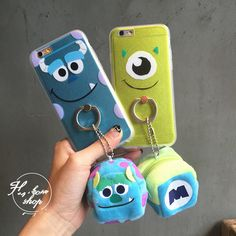 Cute cartoon Disney sulley mike Coin Purse case cover for apple iphone 6 6S plus #UnbrandedGeneric