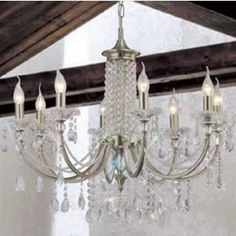 Diyas Leana Traditional Chandelier With Beaded Crystal Drops IL32088