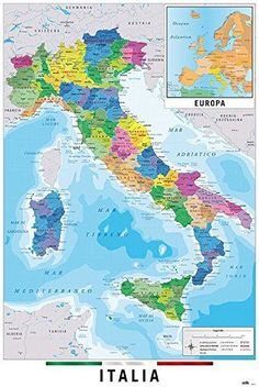 High resolution world map pdf bing images pinterest 1169 wall map of italy italia full sized poster cities regions gumiabroncs Gallery