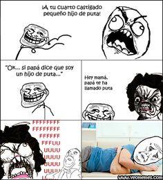 Memes en español: Un hijo de… muy troll → #memesdivertidos #memesenespañol…