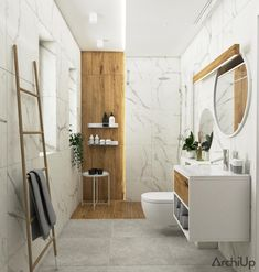 Dom pod Tarnowem | VINSO Projektowanie Wnętrz - ArchiUp.com - Biblioteka 3D Wc Bathroom, Bathroom Inspo, Bathroom Inspiration, Interior Design Inspiration, Bathrooms, Cad 2d, Building A House, Home Furniture, Minimalism