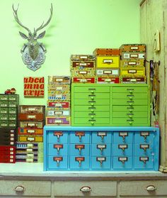 studio drawer units & cigar boxes
