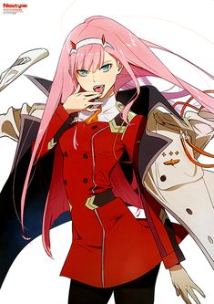 Anime,Аниме,Zero Two (Darling in the Franxx),Darling In The Franxx,Tanaka Masayoshi Yandere Anime, Anime Manga, Anime Art, Game Character, Character Design, Pink Wallpaper Anime, Waifu Material, Zero Two, Best Waifu
