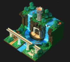 My first animated scene! (realtime in Unity!) #voxel #madewithunity https://t.co/ug3ueb0DbW