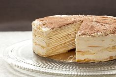This straightforward cake recipe gives an illusion of complexity with its many layers. Get the recipe!