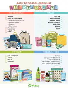 Back to School Checklist - Kindergarten!