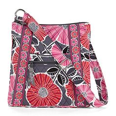 Vera Bradley Hipster Crossbody (Cheery Blossoms) >>> Read more reviews of the product by visiting the link on the image.