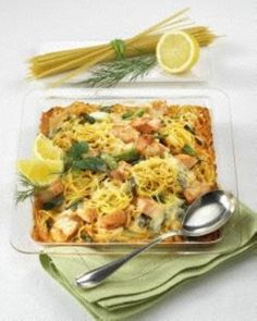 Spaghetti-Lachs-Auflauf Rezept