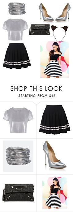 """""""Ariana Grande Concert"""" by jadenicole2 ❤ liked on Polyvore featuring Related, Avenue, Casadei, Balenciaga and Lipsy"""