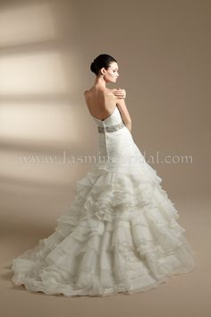T142013 / Wedding Dresses / Jasmine Couture Collection / Available Colours : Creme, Ivory, White (back)