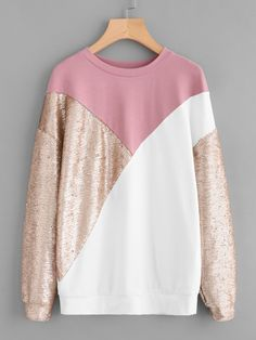 Cut+And+Sew+Sequin+Sweatshirt+27.00