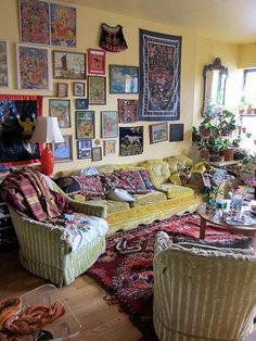 ❤ 90 Modern Bohemian Living Room Decor Ideas - Page 35 of 90 - Best Home Decor My Living Room, Living Room Decor, Living Spaces, Hippie Living Room, Decor Room, Bedroom Decor, Wall Decor, Interior Exterior, Home Interior