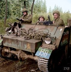 A Loyd Carrier of the Prinses Irene Brigade, Royal Netherlands Motorized Infantry. September 18 1944. In mid September, the P.I.B. became involved in fighting with German forces at the town of Beringen in Belgium, and crossed into Dutch territory on 20 September 1944 at Borkel en Schaft.