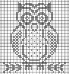 Crochet Owls, C2c Crochet, Crochet Dishcloths, Crochet Blocks, Owl Patterns, Bead Loom Patterns, Crochet Stitches Patterns, Cross Stitch Patterns, Crochet Numbers