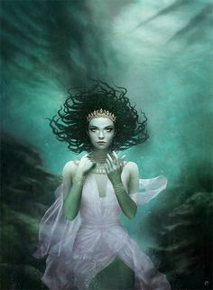 Water Lady by Tom Bagshaw - cover art for The Forbidden Sea by Sheila A. Gq, Tom Bagshaw, Good Books, My Books, Teen Books, Amazing Books, Amazing Pics, Awesome Art, Best Book Covers