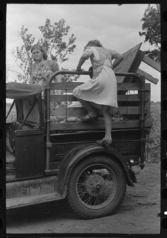 """Getting ready to depart from home in Oklahoma for trip to California, near Muskogee, Oklahoma"""