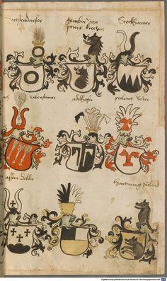 Wappen besonders von deutschen Geschlechtern Süddeutschland ?, 1475 - 1560 Cod.icon. 309  Folio 30r
