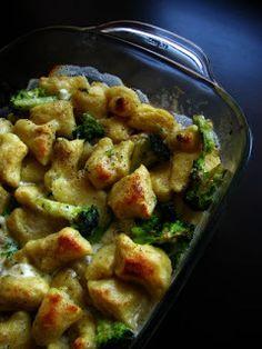 Gnocchi zapekané s brokolicou a syrom
