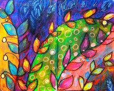 couleurs et mixed media: Art-Journal - Thème 12 - Un tapis de feuilles à l...