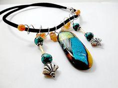 Dichroic Glass/Fused Glass/  Gemstone by DarlenesGlassGarden, $32.00