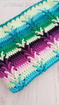 With wonderful texture, an interesting but easy to repeat stitch pattern and color options galore, this blanket makes a perfect gift for baby or larger afghan for yourself.