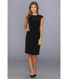 Steal the show in the timeless beauty of this Adrianna Papell™ dress.. Stretch cocktail dress feat...