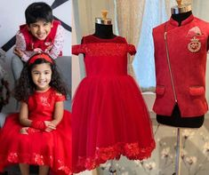 Allu Arjun's kids Ayaan and Arha welcomed Christmas in red outfits! Golden Lehnga, India Fashion, Kids Fashion, Tulle Dress, Dress Up, Red Outfits, Pattu Saree Blouse Designs, Kids Dress Patterns, Pink Stars