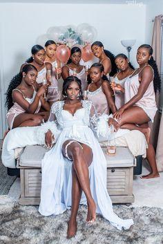 Tolu & Lekan's Chic Outdoor Wedding in Georgia was a HIT! Wedding Goals, Wedding Pics, Wedding Day, Black People Weddings, Black Wedding Dresses, Brown Bridesmaid Dresses, Dress Wedding, Brides And Bridesmaids, Black Bridesmaids