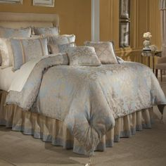 Sabrina Bed D.King French Blue Comforter Set by Veratex