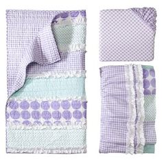 Castle Hill Maddie Lilac 3pc Crib Bedding Set : Target Mobile