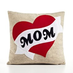 #DearMom Mom Tattoo Pillow