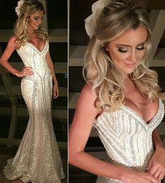 Ana Paula Siebert aposta em vestido de noiva com decote ousado – Blog do Gustavo…