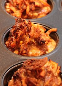 Tilly's Nest: Mini-Muffin Tin Cheddar BBQ Meatloaves
