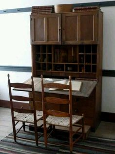 Shaker desk and chairs - I love Shaker furniture, it's simple, functional and beautiful.