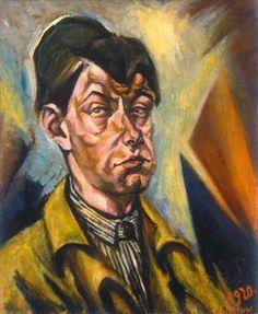 Self-portrait - Lajos Tihanyi