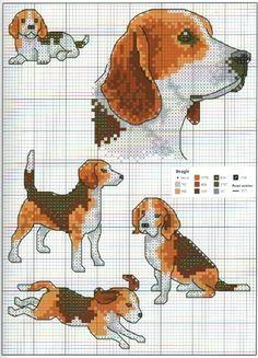 beagle cross stitch