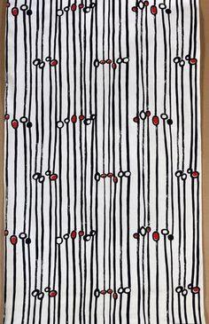 Danuta Teler-Gęsicka, tkanina drukowana, 1958. Wł. MNW