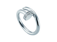 Juste un Clou ring by Cartier. Available April 13. It's a nail with diamonds! brilliant and simple