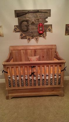 Baby Boy Room Ideas - Designing a boy nursery seems to be an overwhelming task. When you choose the best baby boy room ideas, multiple color Baby Boy Rooms, Baby Boy Nurseries, Rustic Baby Nurseries, Modern Nurseries, Room Baby, Woodland Nursery Boy, Hunting Theme Nursery, Hunting Baby, Deer Themed Nursery