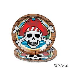 $3-Pirate Party Dessert Plates 8 Pk. Party Supplies Canada - Open A Party