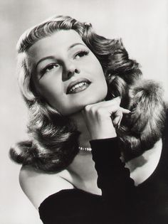 Historic Fashion Beauty Art Photograph Famous Actress RITA HAYWORTH Portrait