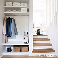 Minimal and clutter free hallway